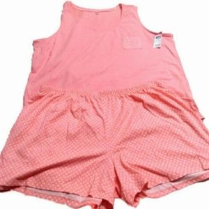 Thin Short Tank Top Sleepwear Set XL (C59DL251519)